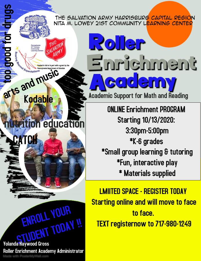 Roller Enrichment Academy Flyer October 2020