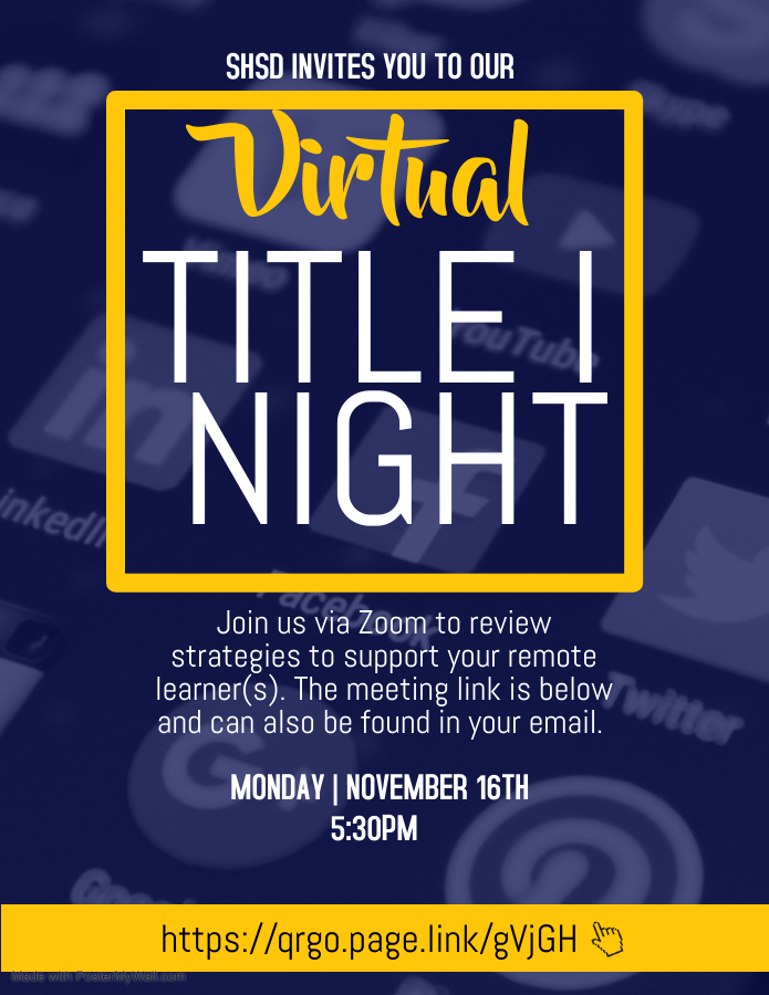 SHSD Virtual Title 1 Night